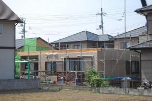 平屋建ての屋根解体