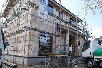 新築:外壁下地防水シート検査
