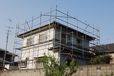 外壁・屋根の塗装塗替え:仮設足場の設置