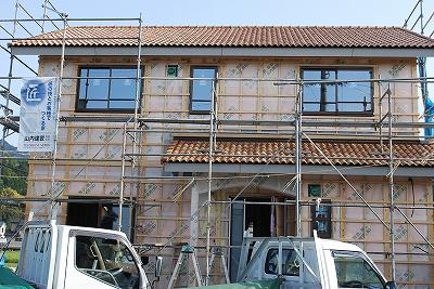 新築工事:外壁サイディング下地