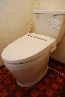 簡易水洗トイレ器具入れ替え