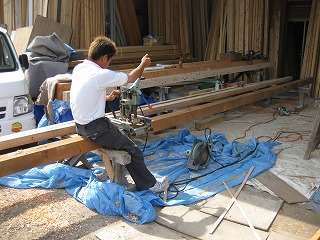 木造車庫の新築