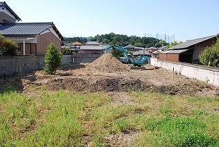 新築敷地の造成