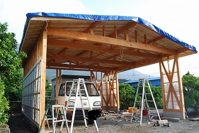 車庫の新築