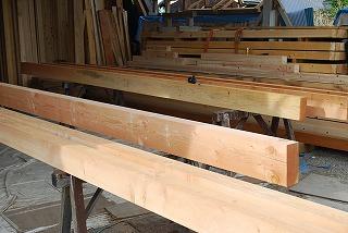 構造材の墨付け・切組み加工