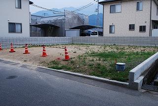 新築予定の現場の縄張り