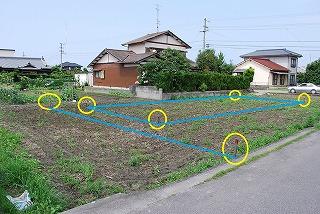 新築現場の敷地造成検討
