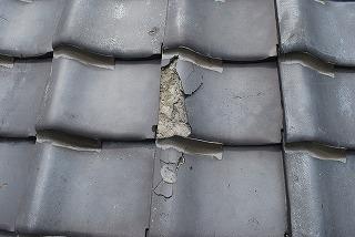 屋根瓦の修理