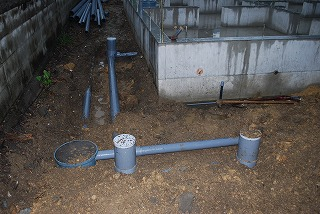 新築の給排水配管工事