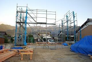工事仮設足場の設置