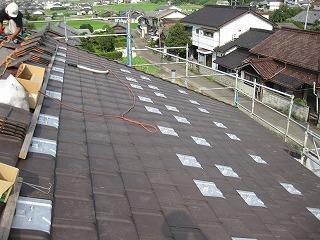 新築現場の屋根工事