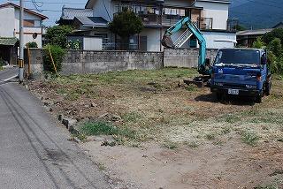 敷地造成の準備