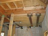 二階浴室のベース面にFRP防水施工