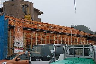 店舗新築工事の建前