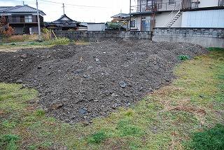 敷地の造成工事