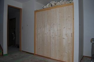 無垢建具の取付