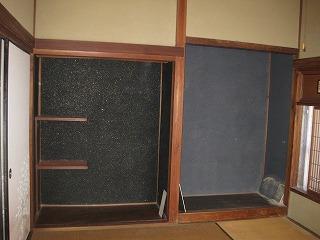 和室の壁塗り替え工事