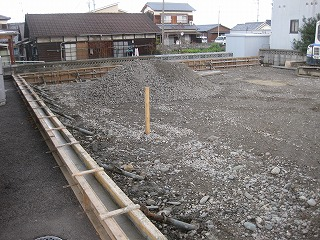 新築の敷地造成工事