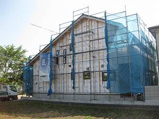 新築住宅の現場状況