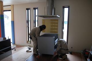 システムキッチン設置