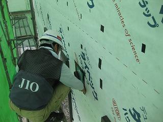 外壁サイディングの下地防水シートの防水検査