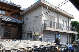 屋上屋根の設置工事