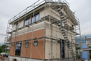 外壁サイディングの施工完了