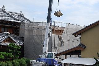 屋上スラブパラペットの解体