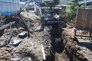 給排水配管の埋設工事