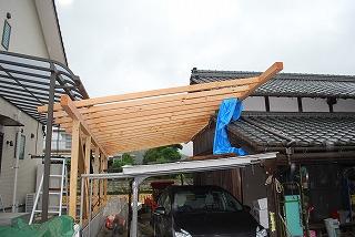 木造テラス建替え