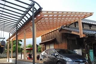 木造テラスの設置
