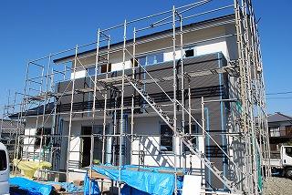 外壁サイディングの施工