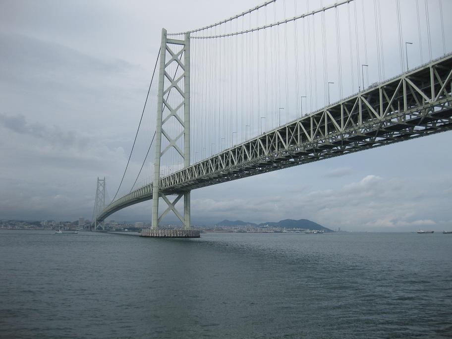 構造:3径間2ヒンジ補合トラス吊橋