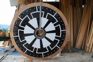 御輿の車輪製作