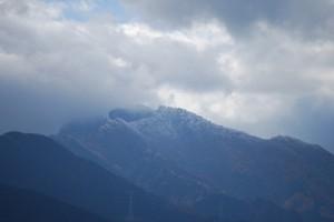 黒森山の山頂に霧氷