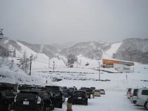 スノーボード初滑り