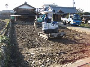敷地造成工事