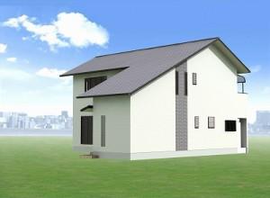 新築工事の 北西外観デザイン