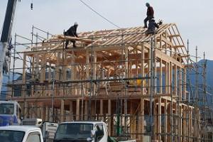 新築住宅の建前