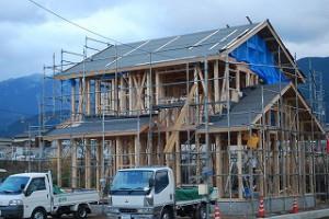 2014年12月17日大安吉日新築住宅の上棟
