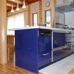 ブルーカラーのクリンレディ・キッチン
