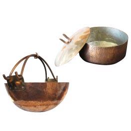段金 囲炉裏鍋、段金 建水 ¥42,000~