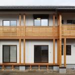 木質バルコニー:パッシブデザイン
