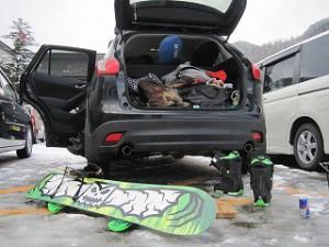 親子でスノーボードの旅