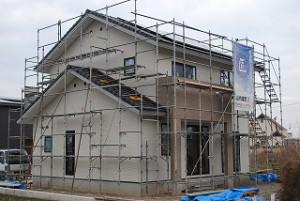 新築工事の外壁サイディング施工