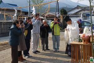 地鎮祭祈願の直会