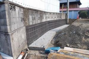 新築の造成工事