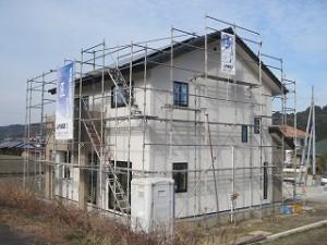 新築の外壁