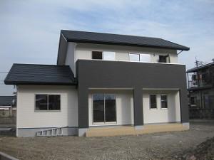 新築住宅の工事の完成外観