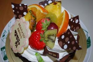 誕生日プレゼントケーキ